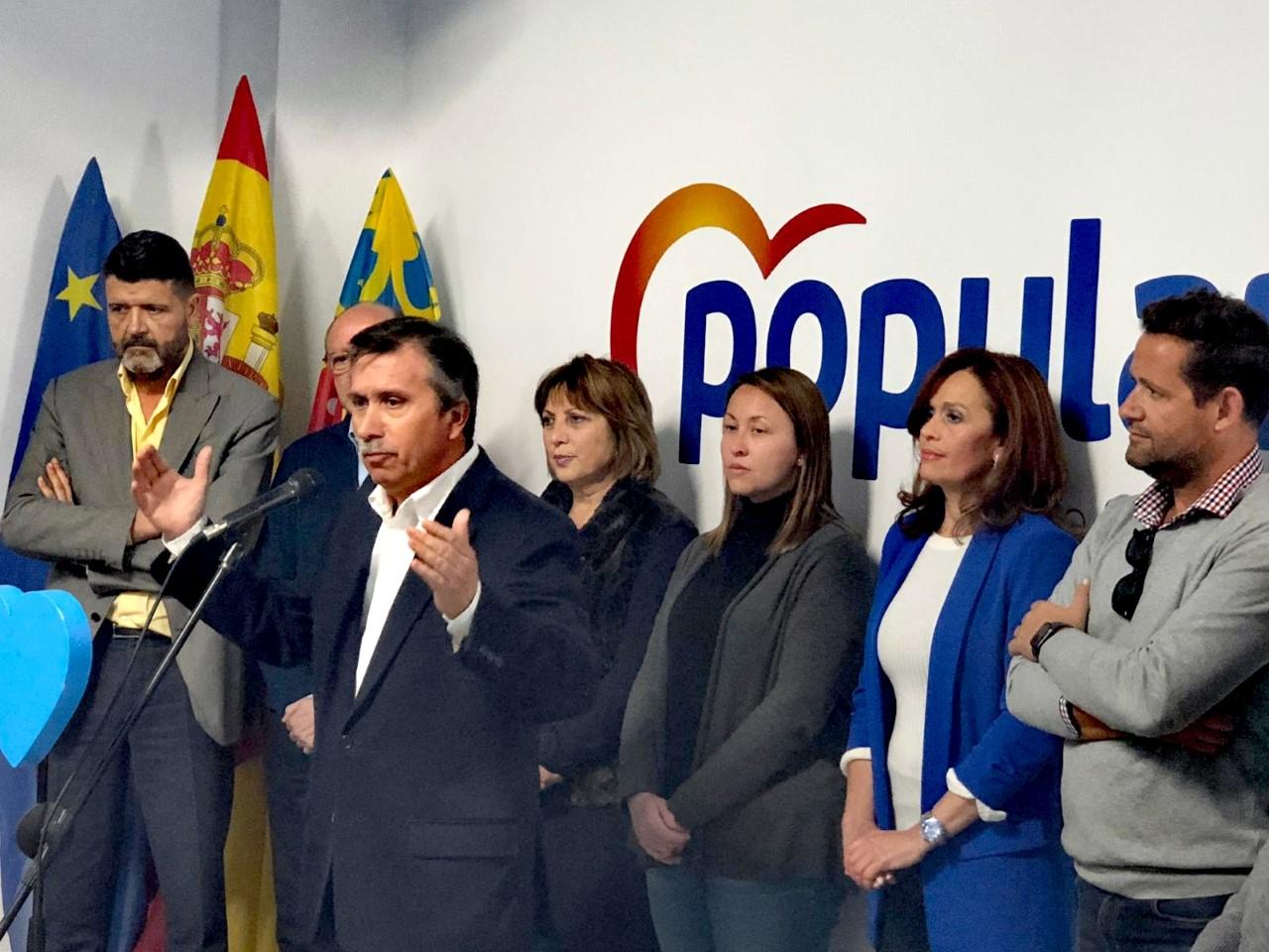 Manuel Aracil hablando en la inauguración de la nueva sede del PP de Sant Joan/ PP de Sant Joan.