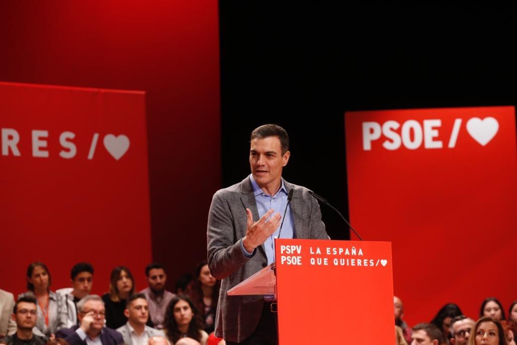 Pedro Sánchez en su acto en la Universidad de Alicante/ @PSOE