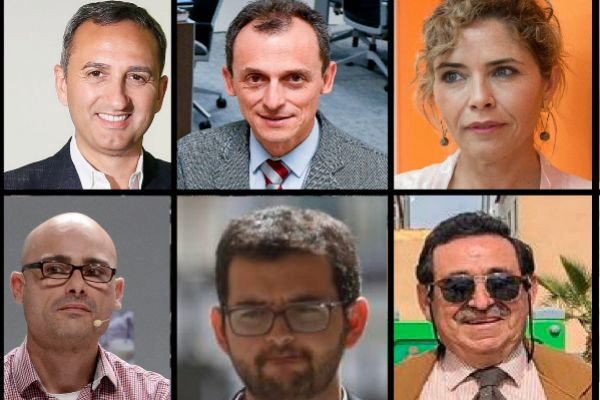 César Sánchez, Pedro Duque, Marta Martín, Txema Guijarro, Ignasi Candela y Manuel Mestre/ EL MUNDO