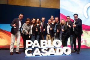 Pablo Casado en el centro de la foto junto a Bonig, Ruz, Sánchez y Barcala/ @ppcv