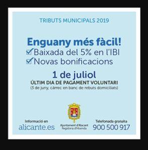 La publicidad institucional que denuncia Compromís sobre la bajada del IBI.