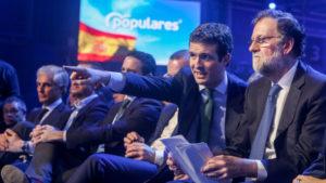 Casado junto a Rajoy en la convención nacional del PP/Europa Press