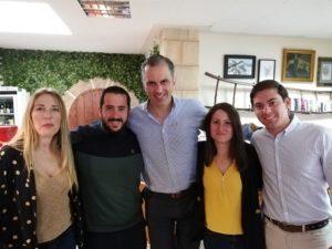 Mario Ortolá junto a Javier Ortega Smith y a Ana Vega