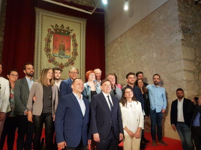 Dalmau, Puig y Oltra protagonizando el Botànic II en Alicante / Alex Ferrer