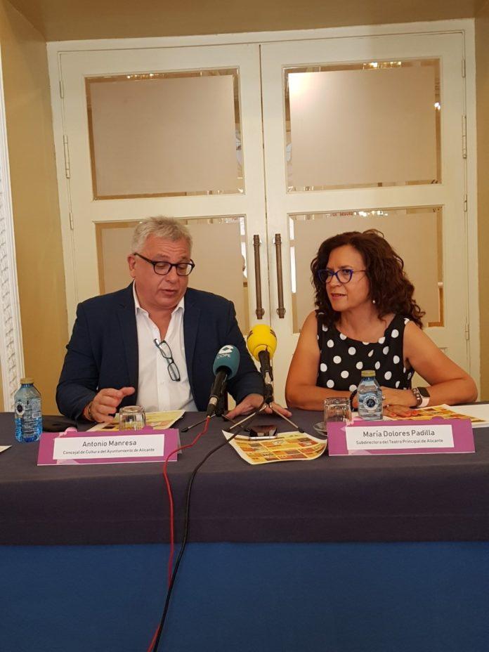 Manresa y Padilla presentando la programación del Principal de Alicante / Alex Ferrer