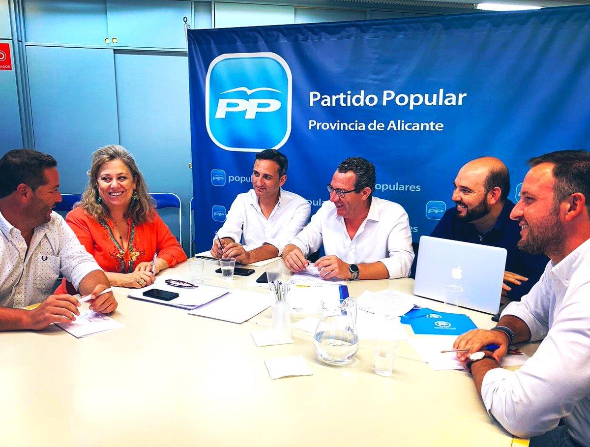 Dalmau junto a César Sanchez, Pablo Ruz, Macarena Montesinos y Toni Perez en una reunión del PP de Alicante / PP Alicante