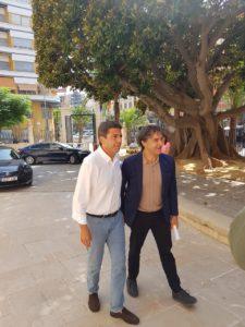 Mazón y Colomer entrando a la Diputación de Alicante /Alex Ferrer
