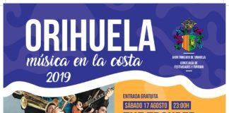 """El cartel del """" 'Orihuela, música en la costa 2019' / Ayuntamiento de Orihuela"""