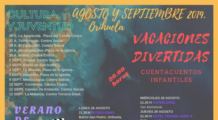 Cartel de la programación veraniega en Orihuela 2019 / Ayuntamiento de Orihuela
