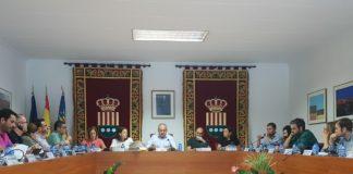 Imagen del pleno de septiembre presidido por el alcalde de Mutxamel, Sebastián Cañadas / Alex Ferrer