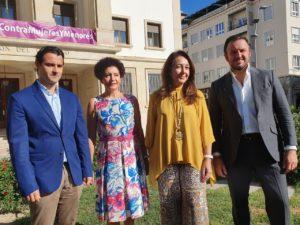 Pablo Ruz, cabeza de lista del Senado para el PP Alicante, junto a sus compañeras de la candidatura y a Eduardo Dolón / Alex Ferrer