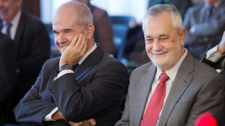 Manuel Chaves y José Antonio Griñán, ex presidentes andaluces condenados en el caso ERE.