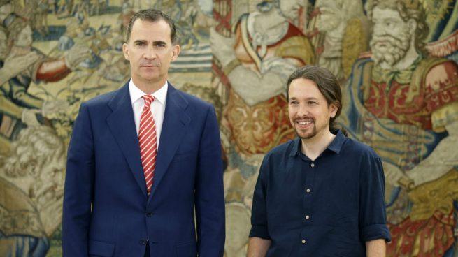 El rey Felipe VI y Pablo Iglesias / EFE