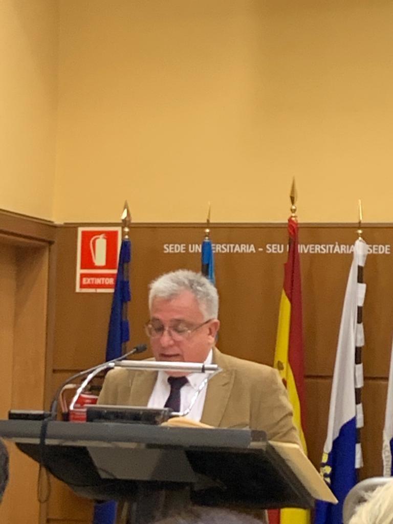 Antonio Manresa, edil de Cs en Alicante, durante su actos del Día de la Constitución en la UA / Antonio Manresa