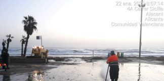 Playas afectadas por la borrasca Gloria
