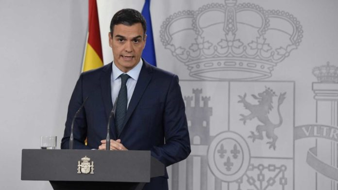 Pedro Sánchez en rueda de prensa