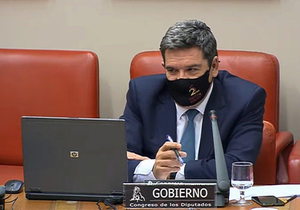 José Luis Escrivá en una comparecencia en el Congreso de los Diputados