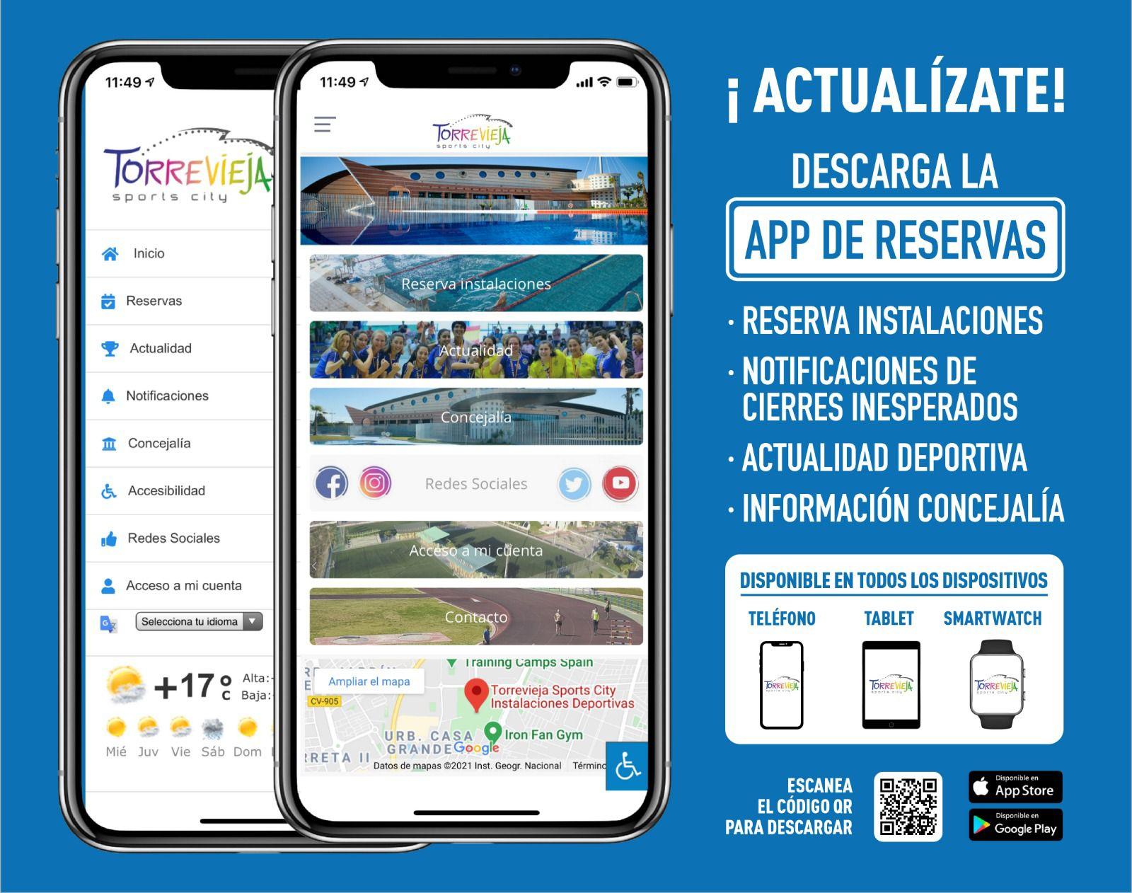 app de deportes del ayuntamiento de Torrevieja