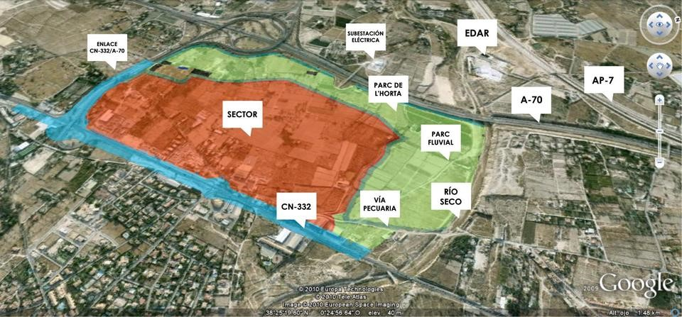 Plano del futuro parque empresarial de Fabraquer (Sant Joan d'Alacant)