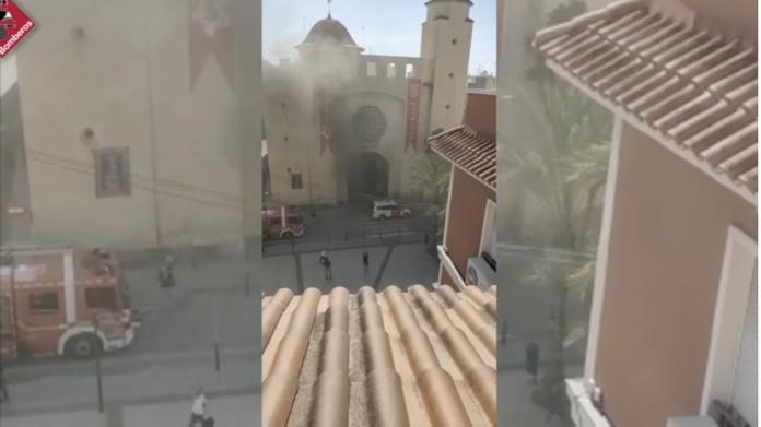 incendio Parroquia de San Juan Bautista de Elche
