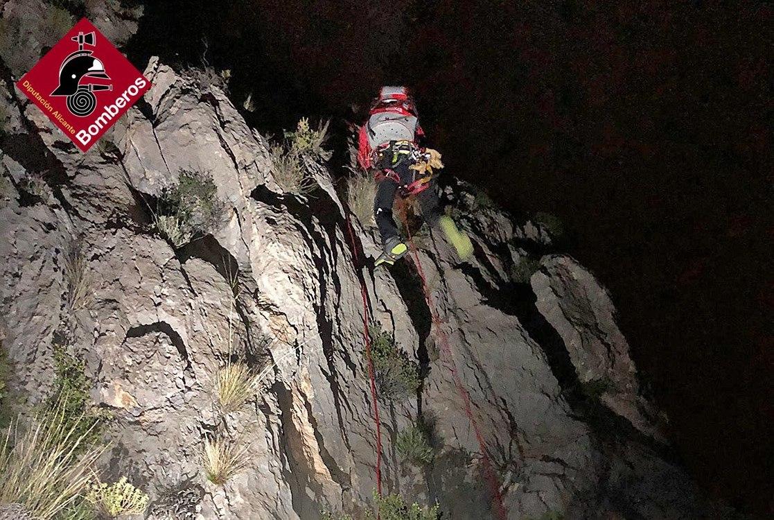 Rescate de los dos excursiones en Puig Campana
