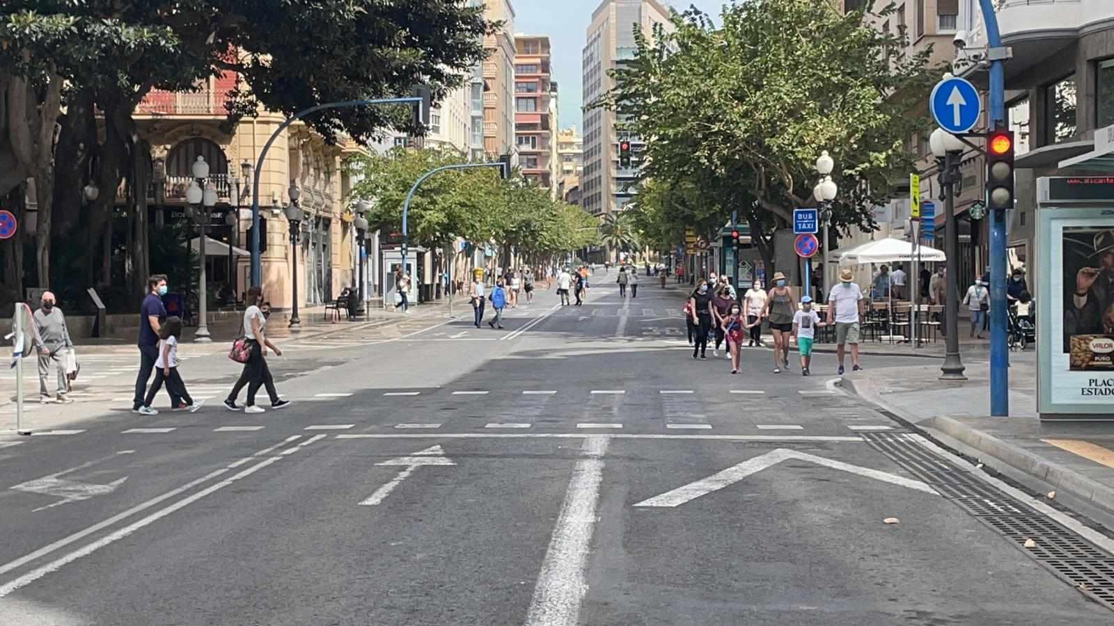 Jornada de peatonalització de el centre d'Alacant