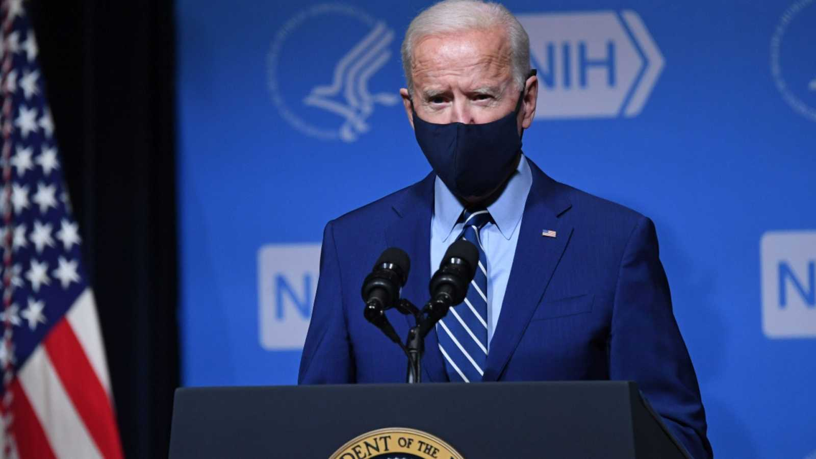 Joe Biden en una rueda de prensa