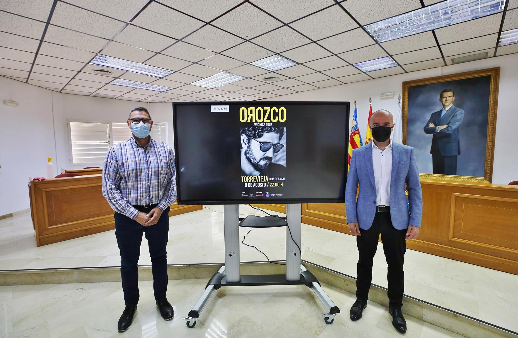 Presentación Concierto Antonio Orozco en Torrevieja