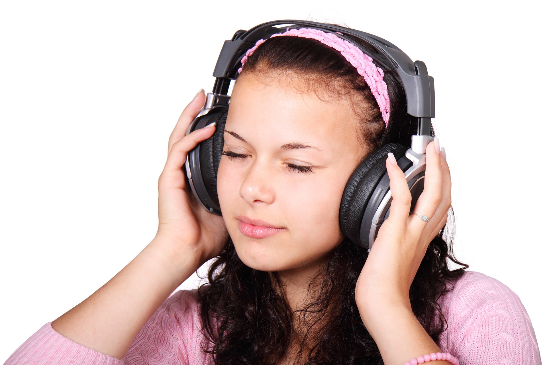 Chica con auriculares