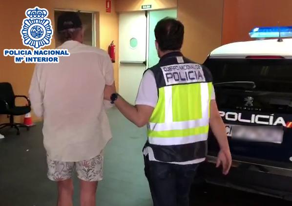 La Policía Nacional detiene al prófugo de la justicia belga en Alicante