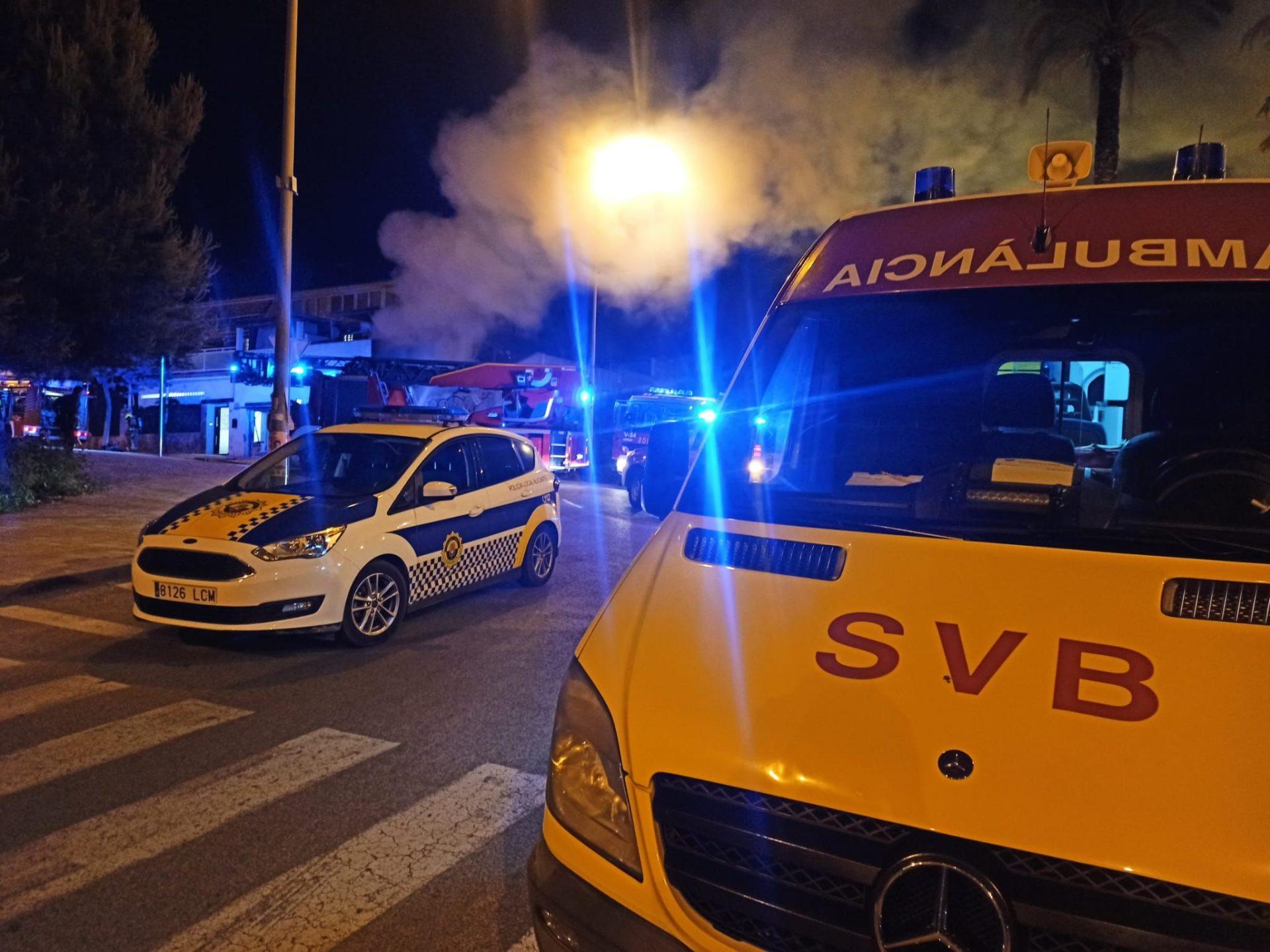 Incendio vivienda de Alicante