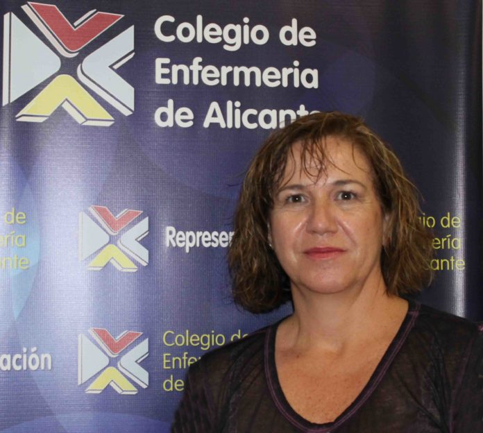 Montserrat Angulo, presidenta Colegio Enfermería Alicante