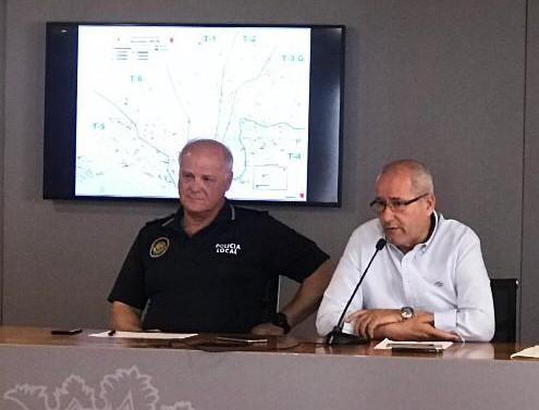 Concejal de Seguridad Alicante José Ramón González y Jefe de Policía Local
