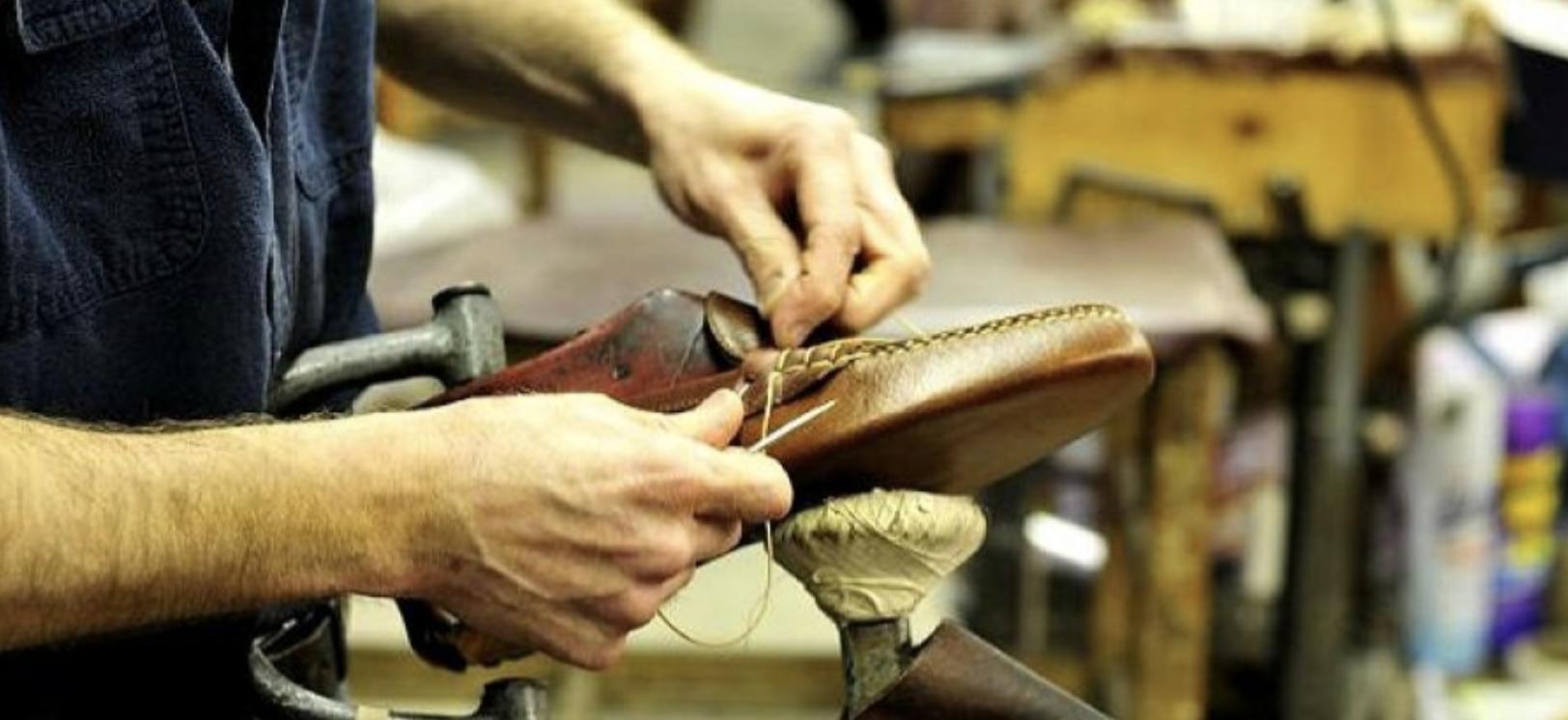 Industria calzado textil | Imagen de archivo