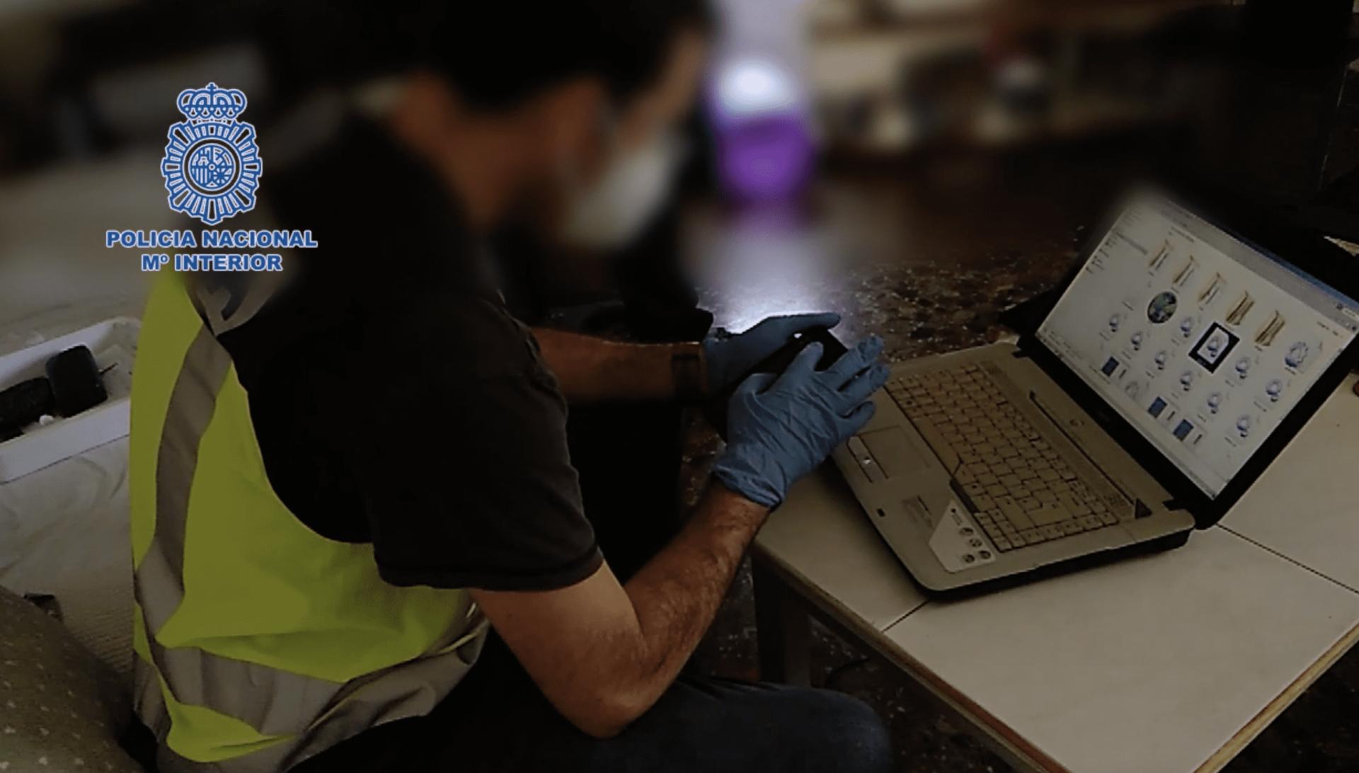 Imagen del registro policial en la casa del detenido | Policía Nacional