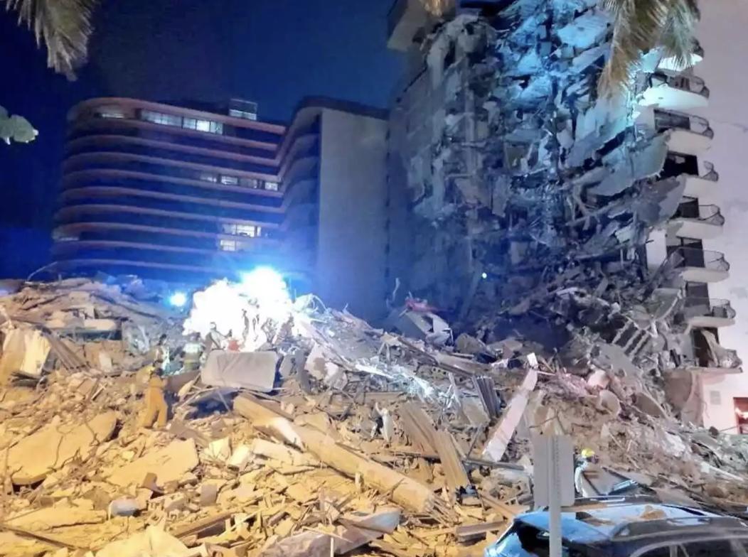 Derrumbe edificio 12 plantas Miami