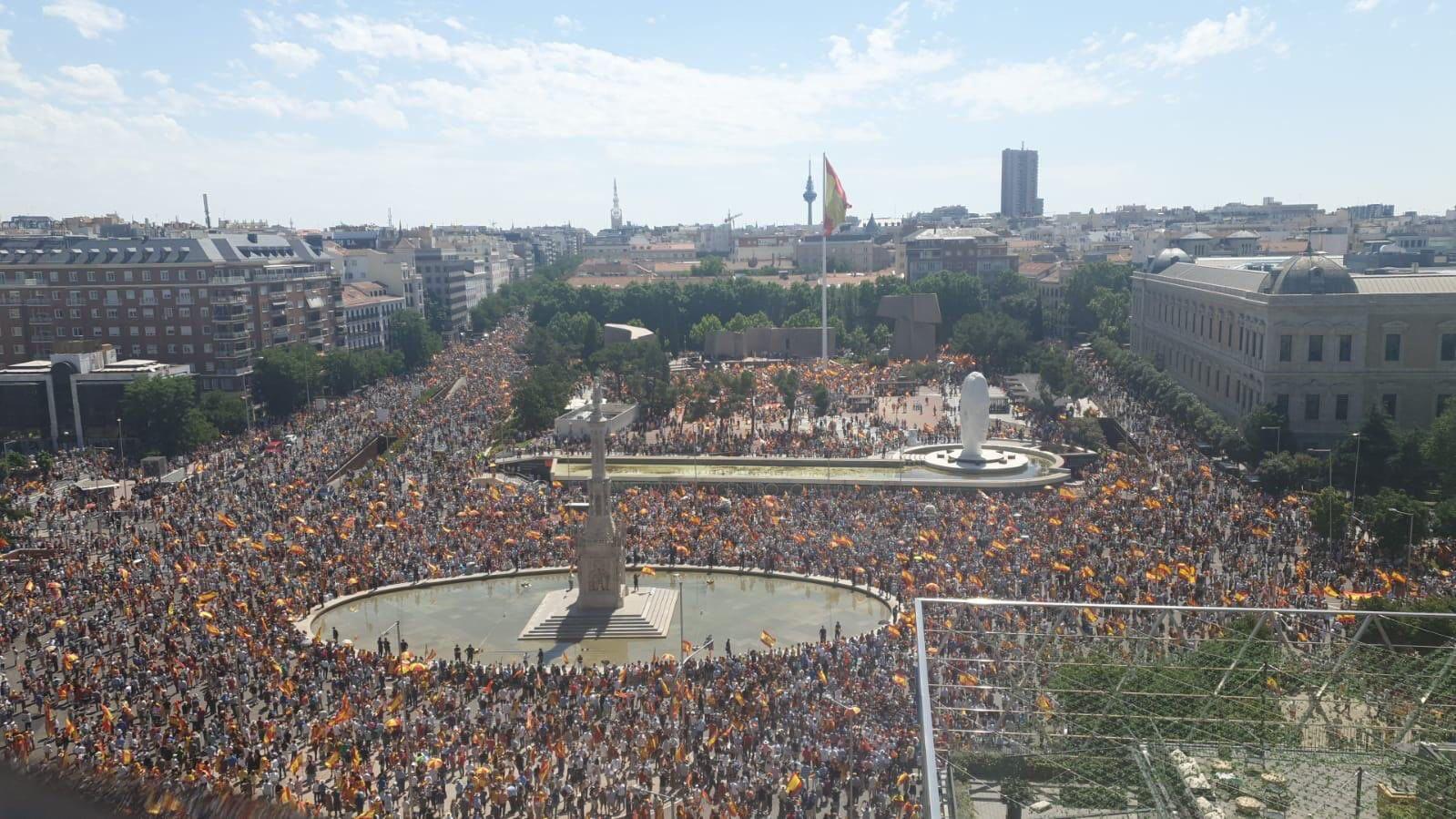 Manifestación plaza Colón contra los indultos   Imagen del Twitter de Ciudadanos