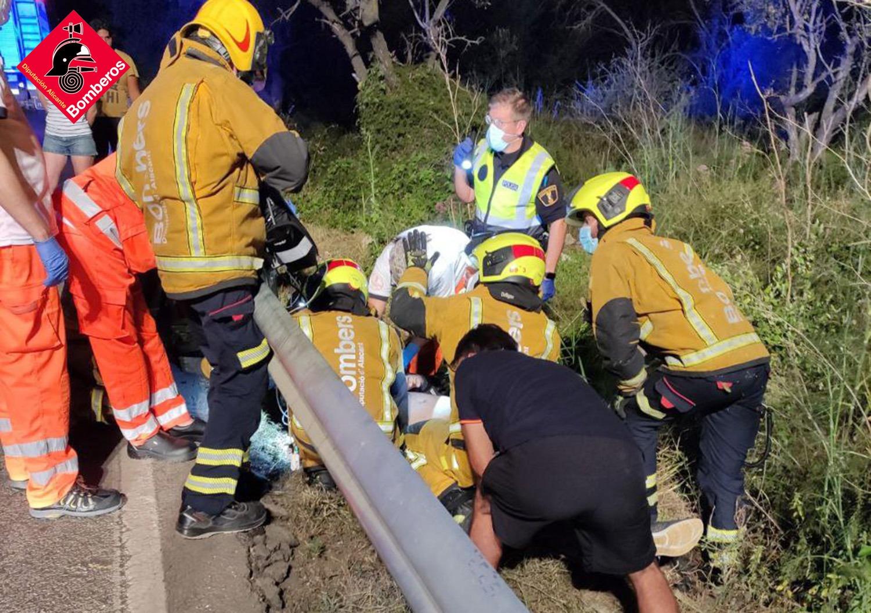Asistencia sanitaria al herido en Pedreguer
