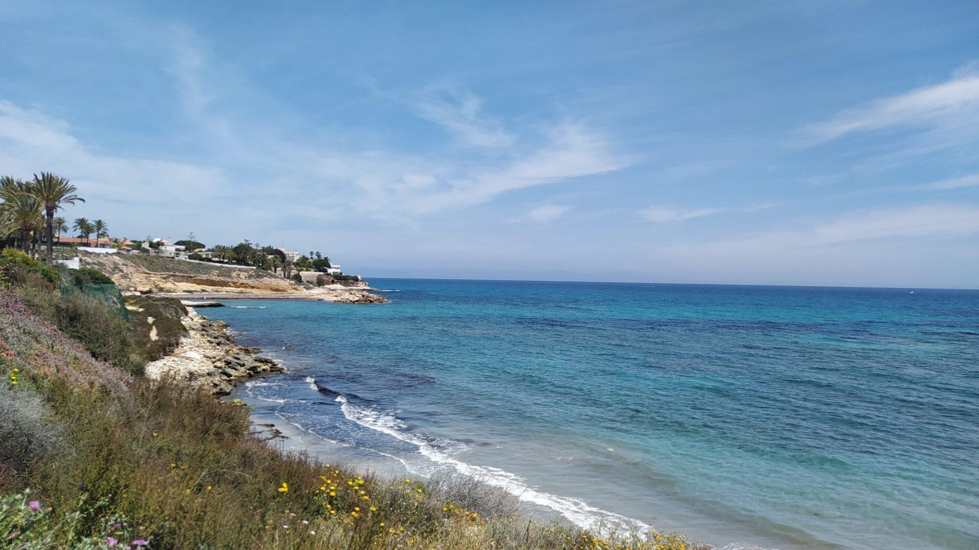 Playa tranquila en El Campello