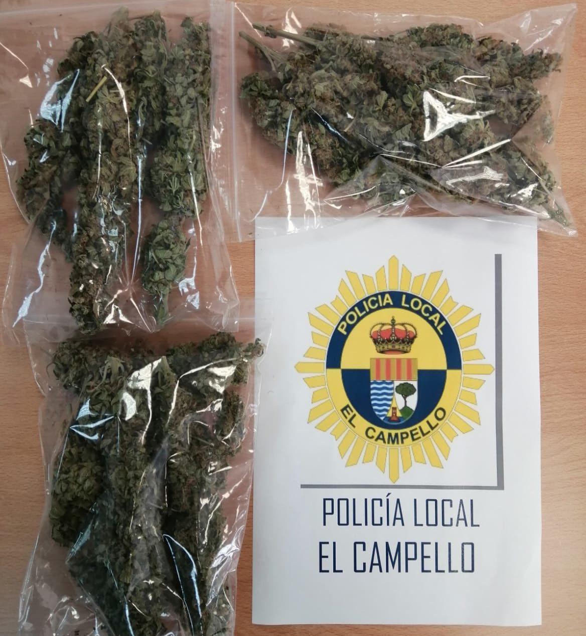 Incautación de droga por la Policía Local de El Campello