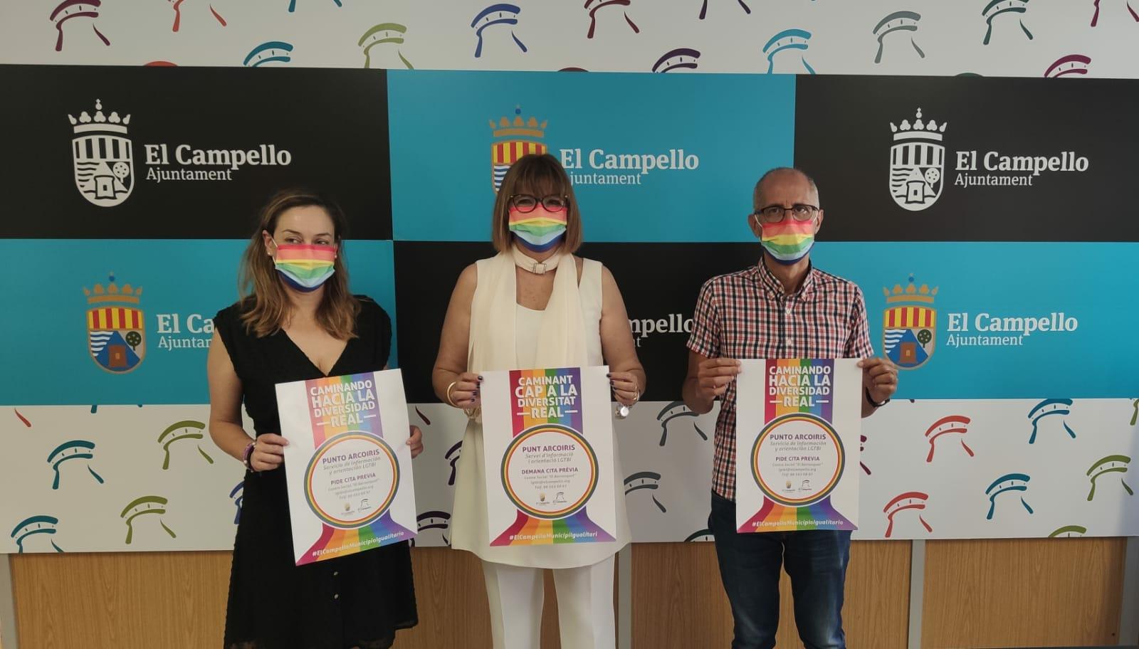 Rueda de prensa presentación campaña LGTBI+