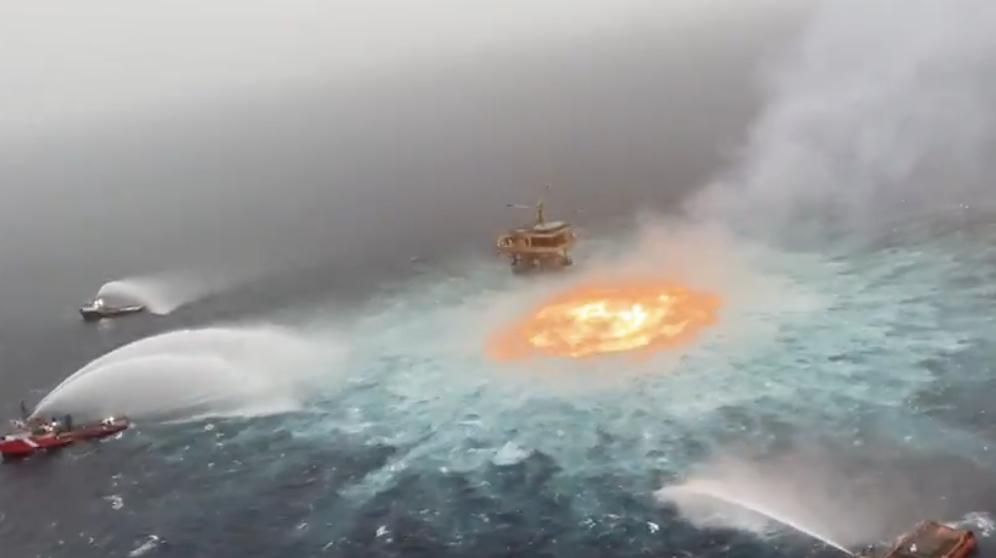 Incendio petrolera México