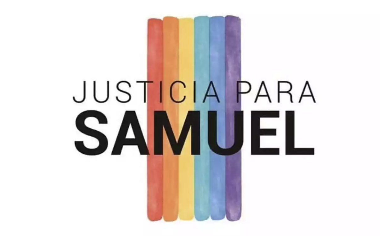 Cartel viral para denunciar el asesinato homófobo.